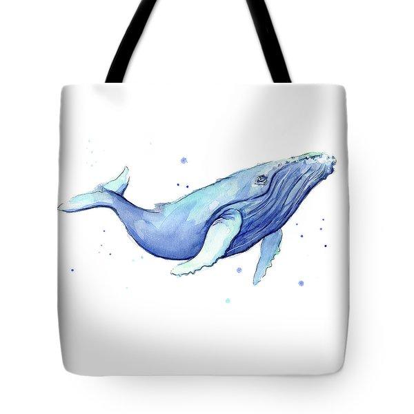 Whale Watercolor Humpback Tote Bag by Olga Shvartsur