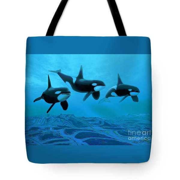 Whale World Tote Bag by Corey Ford