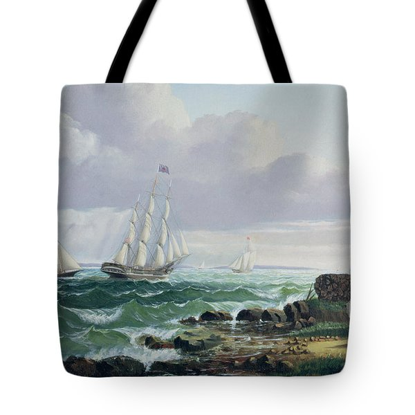 Whalers Coming Home Tote Bag by American School
