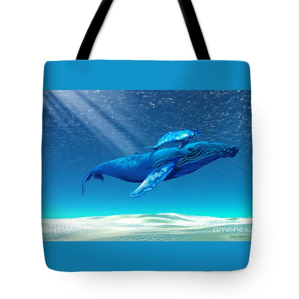 Whales Tote Bag by Corey Ford