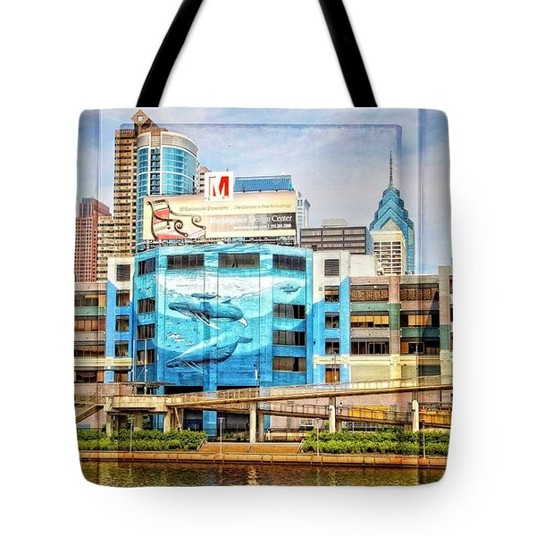 Whales In The City Tote Bag