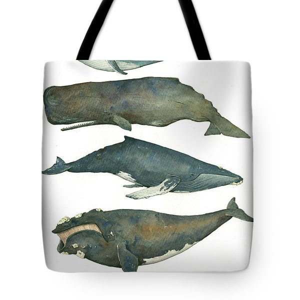 Whales Poster Tote Bag