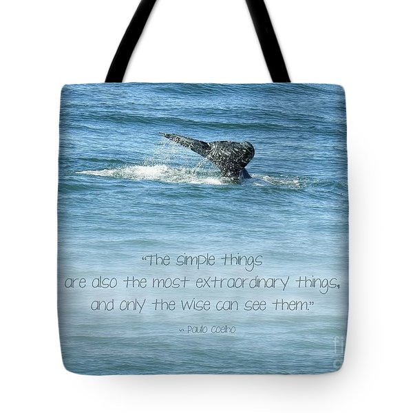 Tote Bag featuring the photograph Whale's Tail by Peggy Hughes