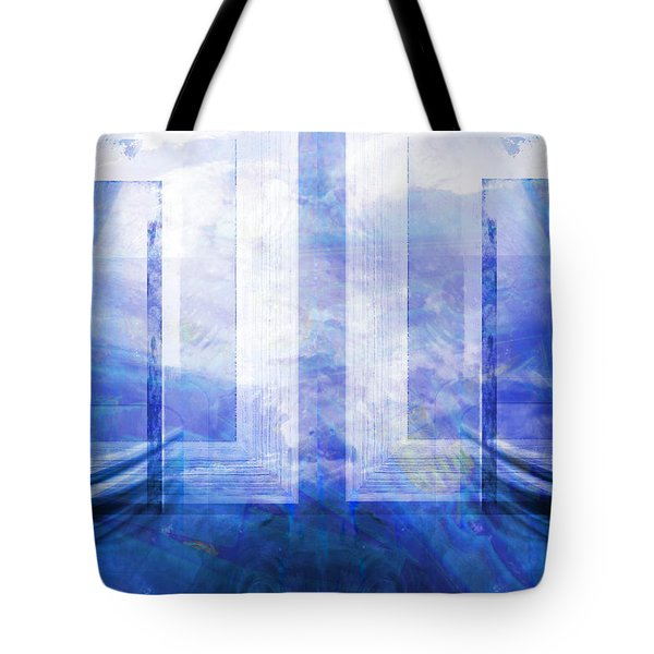 Tote Bag featuring the digital art Whales Talking by Art Di