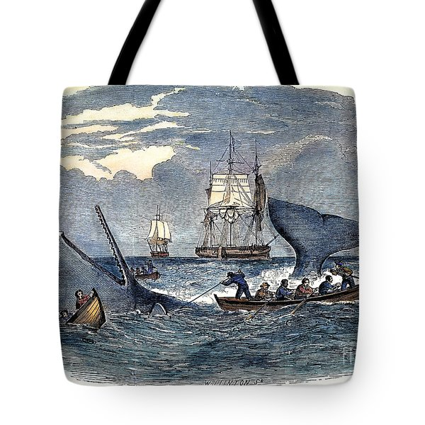 Whaling In South Pacific Tote Bag
