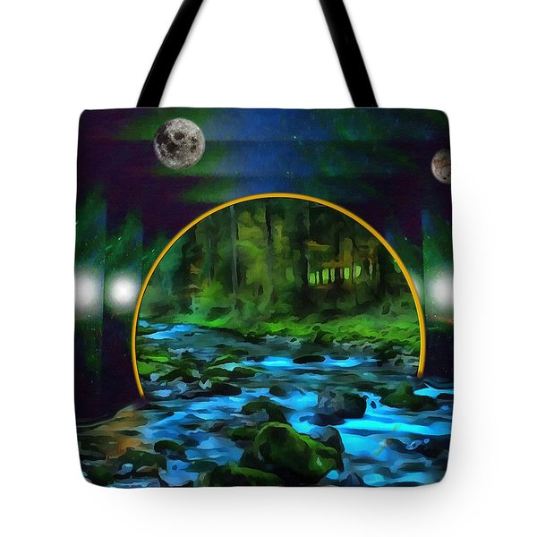 Whare Peaceful Waters Flow Tote Bag by Mario Carini