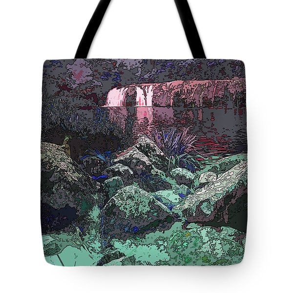 Wharepuke Falls By Moonlight Tote Bag