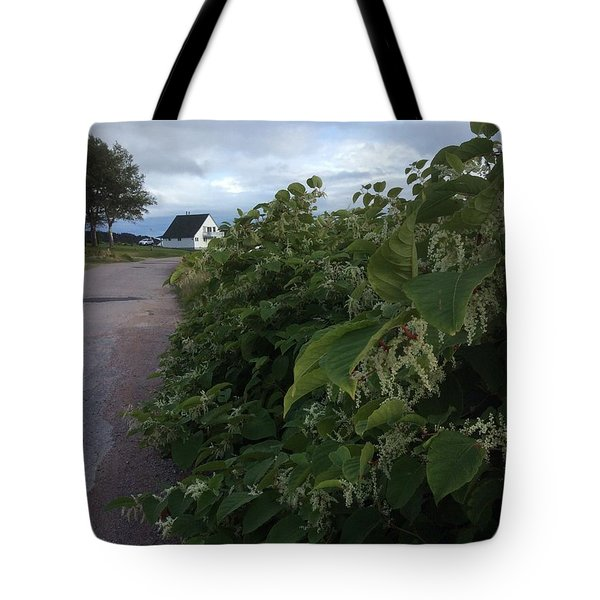 Tote Bag featuring the photograph Wharf Road by Pat Purdy