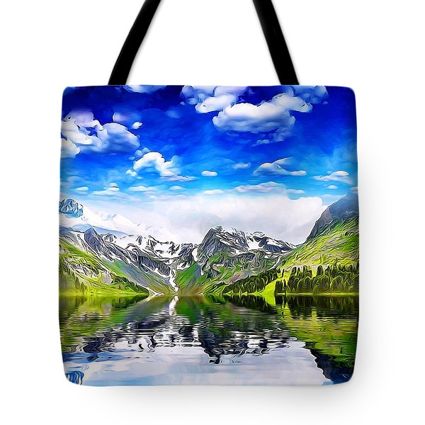 Tote Bag featuring the mixed media What A Beautiful Day by Gabriella Weninger - David