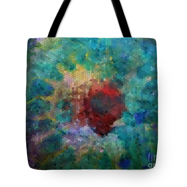 Tote Bag featuring the digital art What A Bee Sees by Claire Bull