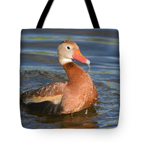 Tote Bag featuring the pyrography What A Big Boy Am I by Sally Sperry