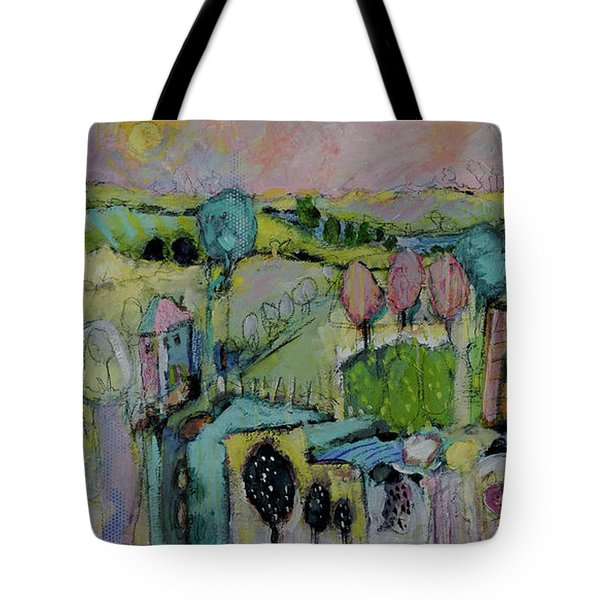 What A Bird Sees Tote Bag by Sharon Furner