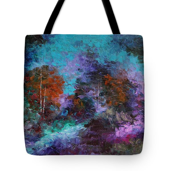 Tote Bag featuring the painting What A Colorful World by Steven Lebron Langston
