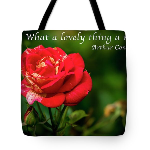 What A Lovely Thing A Rose Is Tote Bag
