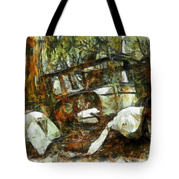 What A Ride Tote Bag by Claire Bull