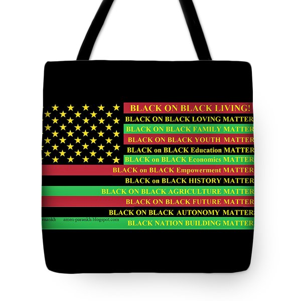 What About Black On Black Living? Tote Bag