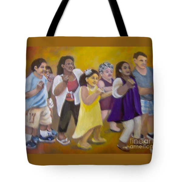 Tote Bag featuring the painting What America Should Look Like by Saundra Johnson