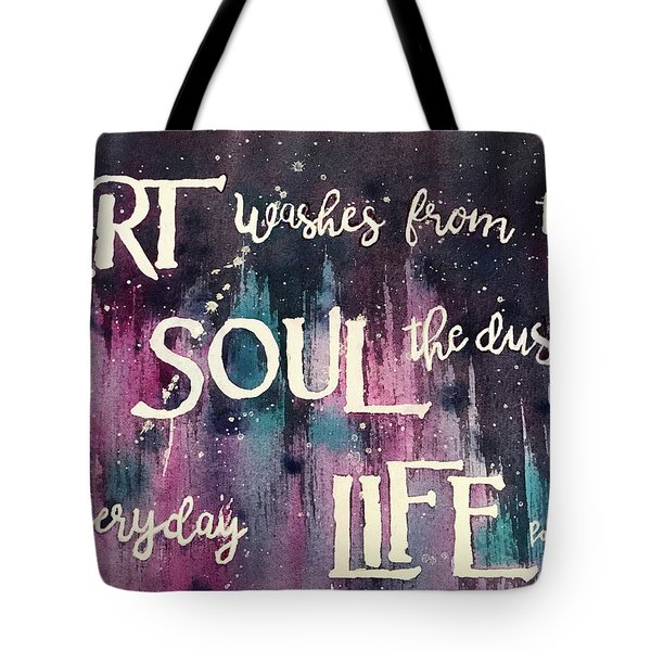 Tote Bag featuring the painting What Art Does by Diane Fujimoto