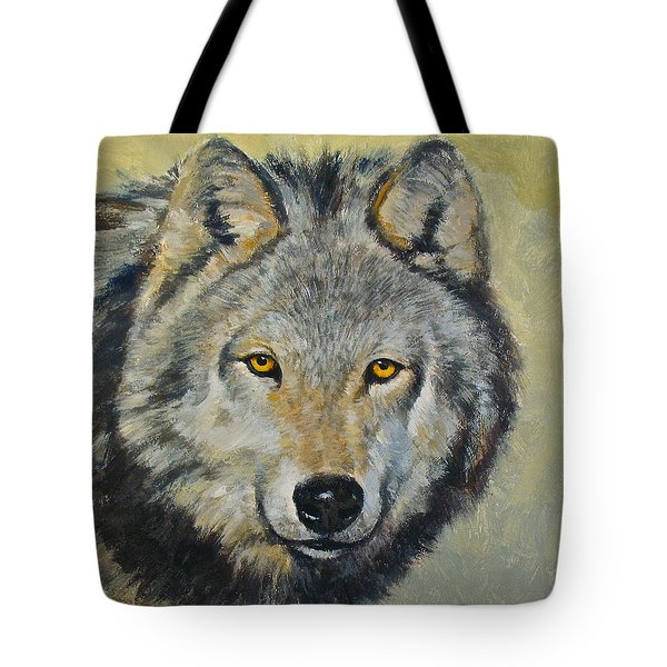 Tote Bag featuring the painting Heres Lookn At You..kid....kid....kid by Cliff Spohn