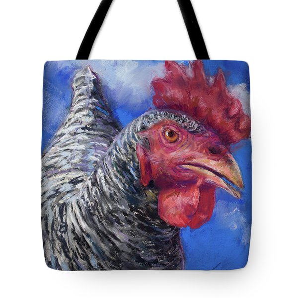 Tote Bag featuring the pastel What Do You Want by Billie Colson