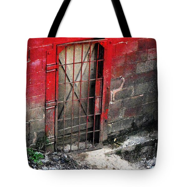 Tote Bag featuring the photograph What Lies Behind The Door by W And F Kreations