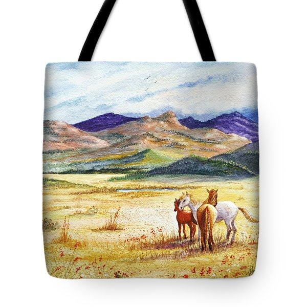 Tote Bag featuring the painting What Lies Beyond by Marilyn Smith