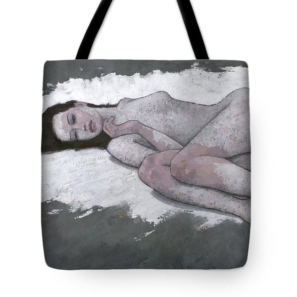 Tote Bag featuring the painting What Remains by Steve Mitchell