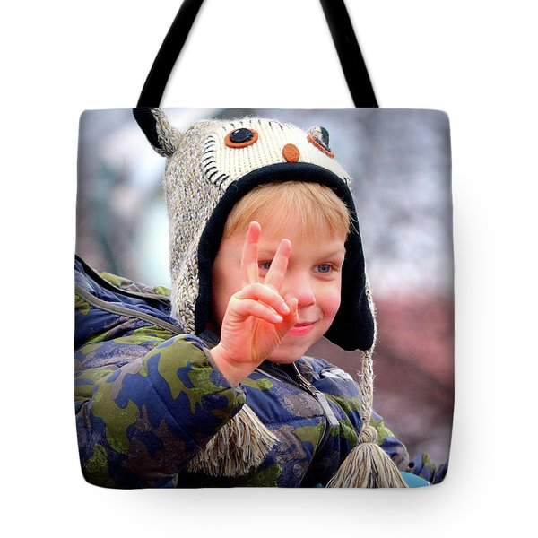 Tote Bag featuring the photograph What The World Needs Now by Barbara Dudley