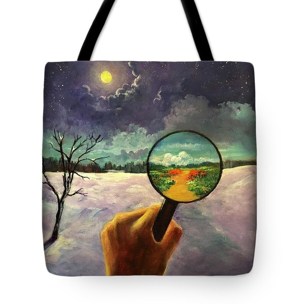 What We Choose To See Tote Bag