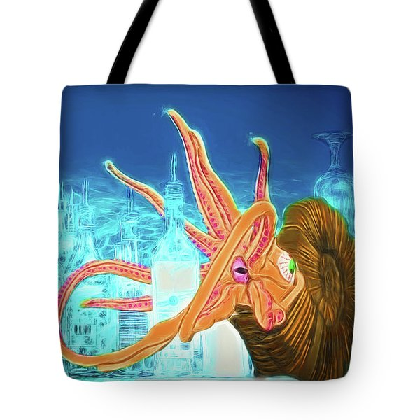 Tote Bag featuring the drawing What Will You Have by John Haldane