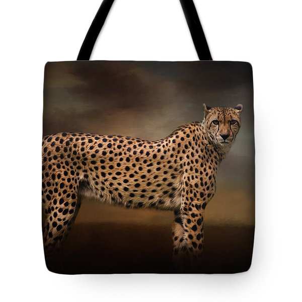 What You Imagine - Cheetah Art Tote Bag by Jordan Blackstone