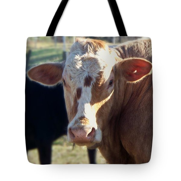 Tote Bag featuring the photograph What You Lookin' At by Betty Northcutt