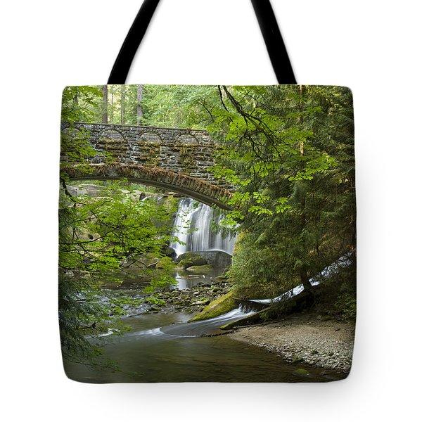 Whatcom Falls Bridge Tote Bag