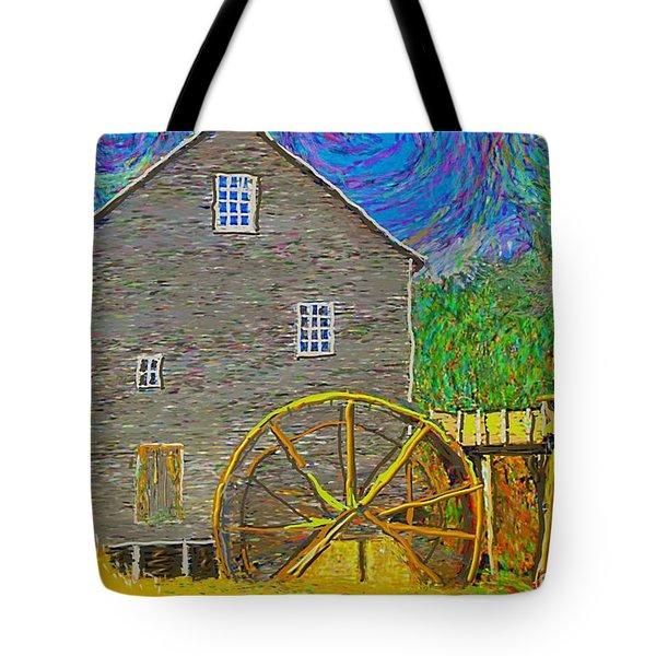 Water Wheel  Tote Bag
