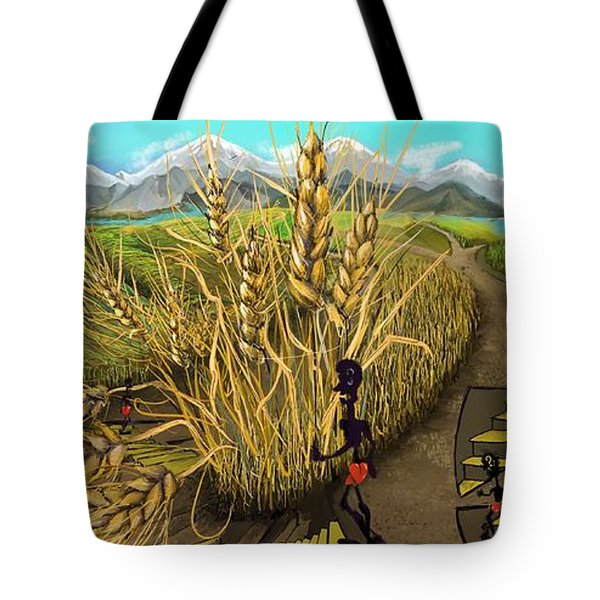 Wheat Field Day Dreaming Tote Bag