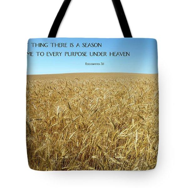 Wheat Field Harvest Season Tote Bag