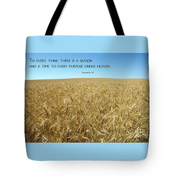 Tote Bag featuring the photograph Wheat Field Harvest Season by Steven Frame