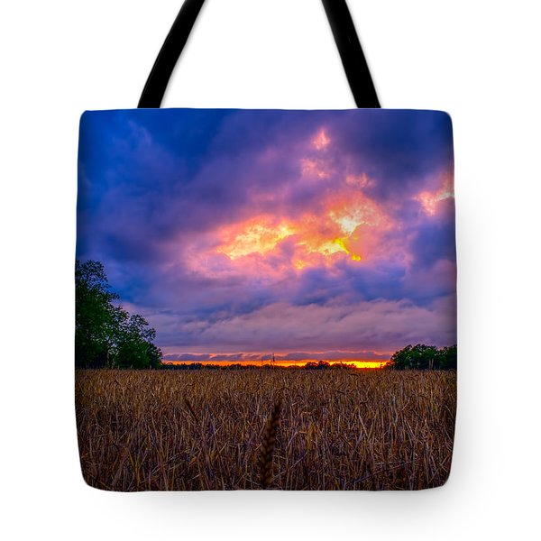 Wheat Field Sunset Tote Bag