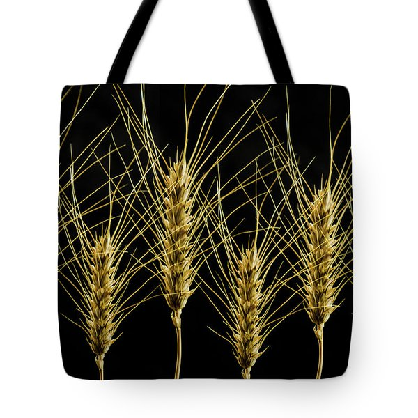 Wheat In A Row Tote Bag