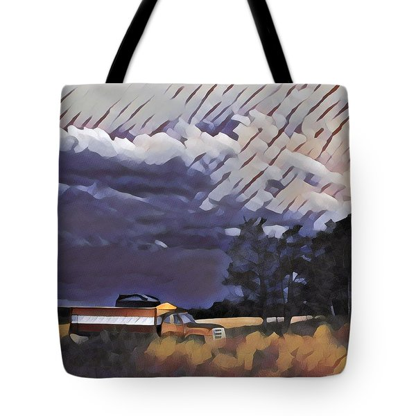 Wheat Wagon Tote Bag