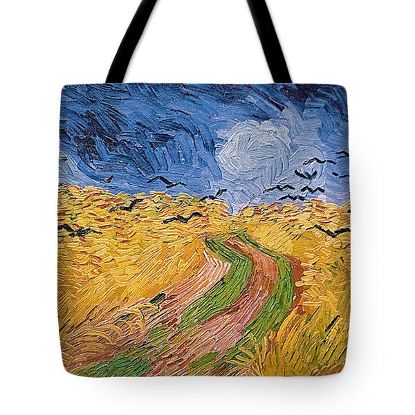 Wheatfield With Crows Tote Bag by Vincent van Gogh