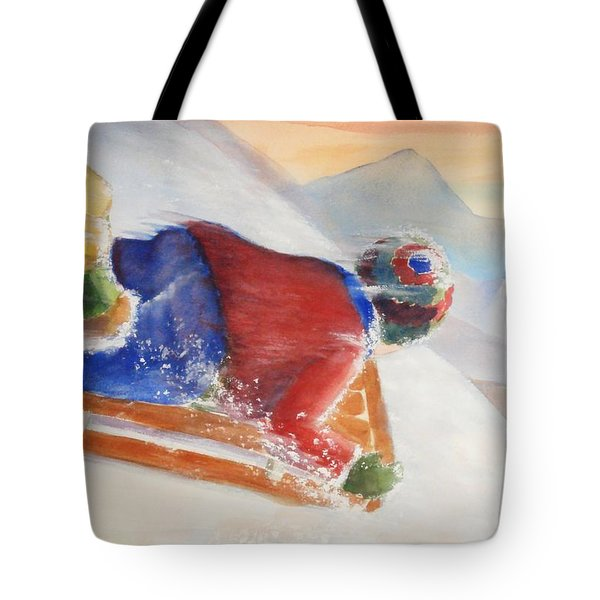 Tote Bag featuring the painting Wheee by Marilyn Jacobson
