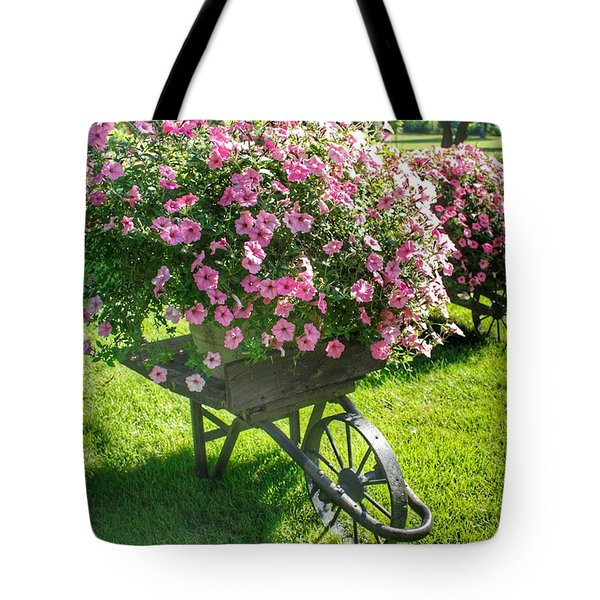 2004 - Wheel Barrow Full Of Flowers Tote Bag