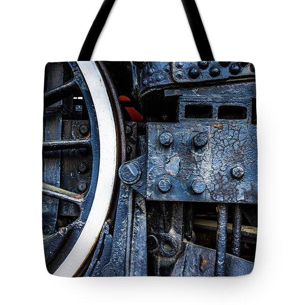 Wheel In Black II Tote Bag by Jae Mishra