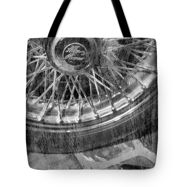 Tote Bag featuring the photograph Wheel Of An Old Car. by Andrey  Godyaykin
