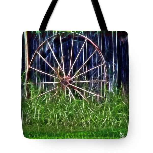 Tote Bag featuring the photograph Wheel Of Fortune by EricaMaxine  Price
