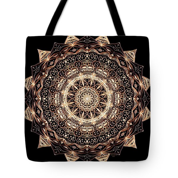 Wheel Of Life Mandala Tote Bag