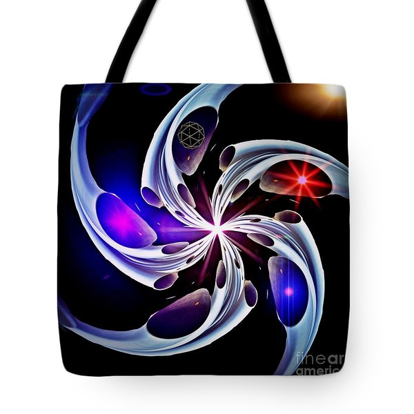 Wheel Of Light And Motion Tote Bag by Blair Stuart