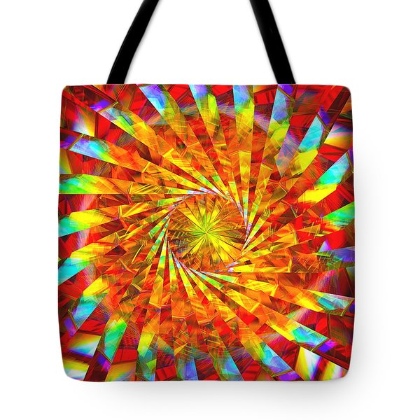 Wheel Of Light Tote Bag