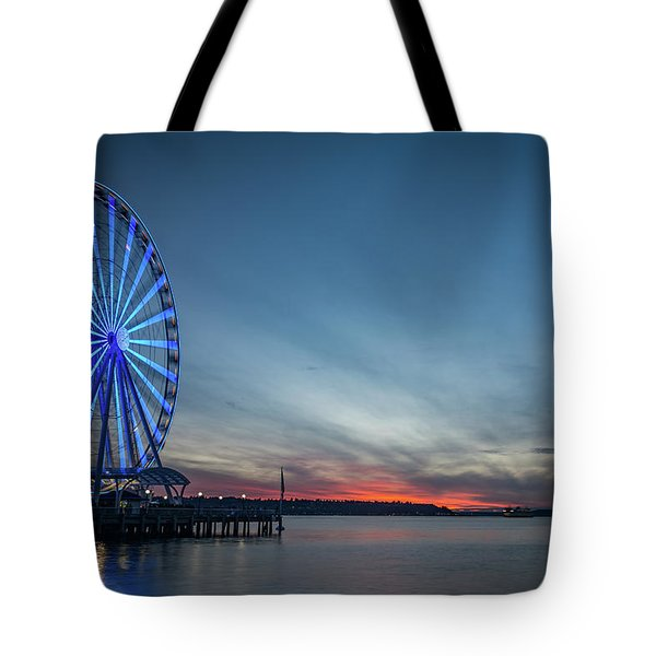 Wheel On The Pier Tote Bag